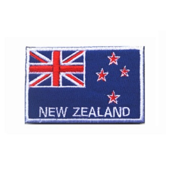 Ten piece a lot 3D embroidery armband New Zealand flag patch Belgium flag patch Netherlands flag patch England flag patch